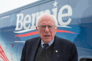 Democratic presidential candidate, Sen. Bernie Sanders, I-Vt. arrives to speak at a town hall, Tuesday, Jan. 19, 2016, at Santa Maria Winery in Carroll, Iowa. (AP Photo/Andrew Harnik)