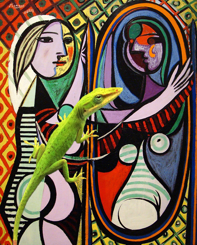 Gecko with Picasso